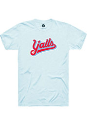Rally Florence Yalls Light Blue Wordmark Short Sleeve Fashion T Shirt