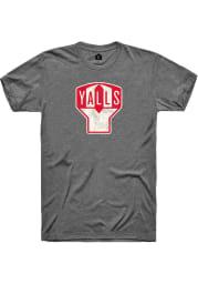 Rally Florence Yalls Grey Y Logo Short Sleeve Fashion T Shirt