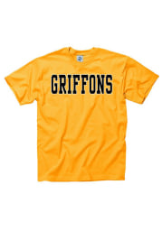 Missouri Western Griffons Gold Mascot Short Sleeve T Shirt