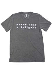 Womens Grey Never Lost Tailgate Short Sleeve T Shirt