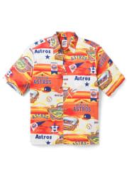 Houston Astros Mens White Scenic Short Sleeve Dress Shirt