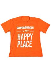 Texas Youth Orange Happy Place Short Sleeve Fashion T-Shirt