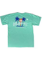 Texas Green Palm Trees Short Sleeve Fashion T Shirt