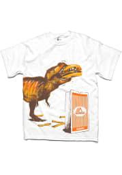 Whataburger Texas White T-Rex Short Sleeve T Shirt