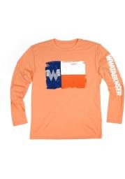 Texas Orange Flag Long Sleeve T Shirt