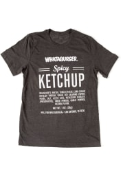 Texas Charcoal Spicy Ketchup Short Sleeve Fashion T Shirt