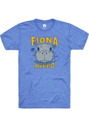 Fiona the Hippo Heather Royal Peaking Out of Water Short Sleeve T-Shirt