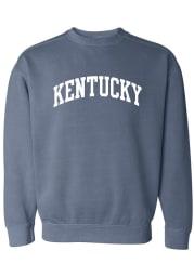 Rally Kentucky Womens Blue Wordmark Crew Sweatshirt