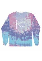 Kansas City Women's Cotton Candy Tie-Dye Wordmark Unisex Long Sleeve T-Shirt