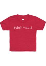 Rally Cincinnati Youth Red Equation Short Sleeve T-Shirt
