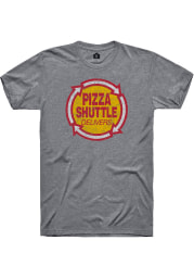 Pizza Shuttle Graphite Logo Short Sleeve T-Shirt
