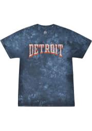 Rally Detroit Navy Blue Bridge Arch Short Sleeve T Shirt