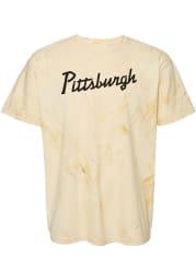 Rally Pittsburgh Yellow RH Script Short Sleeve Fashion T Shirt