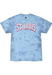 Rally St Louis Light Blue Bridge Arch Short Sleeve T Shirt