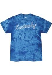 Rally Kentucky Womens Blue Retro Script Short Sleeve T-Shirt