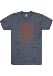Rally Detroit Navy Blue Motor City Repeat Short Sleeve Fashion T Shirt