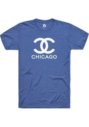 Rally Chicago Womens Blue CC Wordmark Short Sleeve T-Shirt