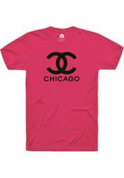 Rally Chicago Womens Red CC Wordmark Short Sleeve T-Shirt