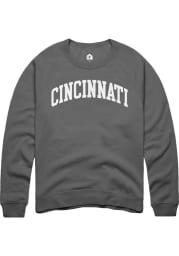 Rally Cincinnati Womens Charcoal Wordmark Crew Sweatshirt