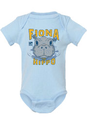 Rally Cincinnati Baby Light Blue Fiona the Hippo Peaking Out of Water Short Sleeve One Piece