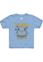 Rally Cincinnati Toddler Light Blue Fiona the Hippo Peaking Out of Water Short Sleeve T-Shirt