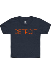 Rally Detroit Youth Navy Blue Disconnect Short Sleeve T-Shirt