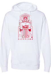 Rally Cleveland Mens White Guardians Long Sleeve Hoodie