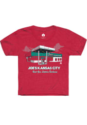 Rally Kansas City Youth Red Gas Station Short Sleeve T-Shirt