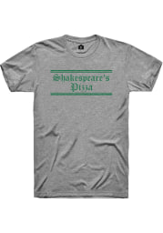 Shakespeare's Pizza Dark Heather Grey Prime Logo Short Sleeve T-Shirt