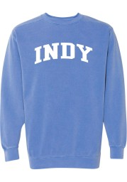 Rally Indianapolis Womens Blue Arch Wordmark Crew Sweatshirt