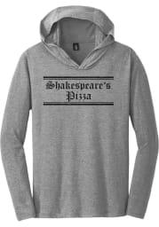 Shakespeare's Pizza Heather Grey Prime Logo Long Sleeve T-Shirt Hood