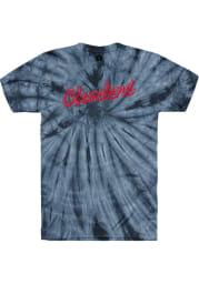 Rally Cleveland Navy Blue Retro Script Short Sleeve T Shirt