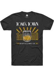 Tom's Town Distilling Co. Skyline & Glass Black SS Tee