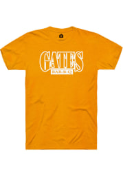 Gates Bar-B-Q Heather Marmalade Prime Logo Short Sleeve T-Shirt