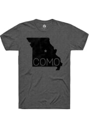 Rally Missouri Grey COMO State Shape Short Sleeve Fashion T Shirt
