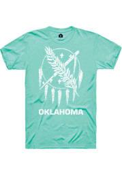 Rally Oklahoma Green Vintage State Flag Short Sleeve Fashion T Shirt