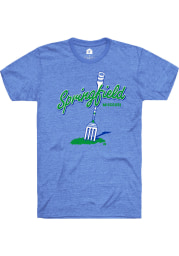 Rally Missouri Blue Big Fork Short Sleeve Fashion T Shirt