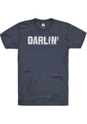 Rally Oklahoma Womens Navy Blue Darlin Short Sleeve T-Shirt