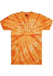 Rally Womens Orange OKC Square Short Sleeve T-Shirt