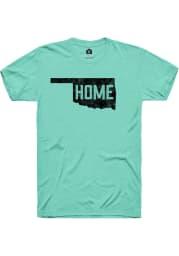 Rally Oklahoma Green Home State Shape Short Sleeve Fashion T Shirt