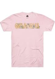 Rally Oklahoma Womens Pink Floral Short Sleeve T-Shirt