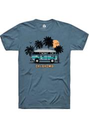Rally Oklahoma Teal Bus Short Sleeve Fashion T Shirt