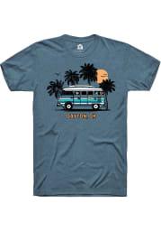 Rally Ohio Teal Bus Short Sleeve Fashion T Shirt