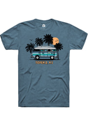 Rally Kansas Teal Bus Short Sleeve Fashion T Shirt