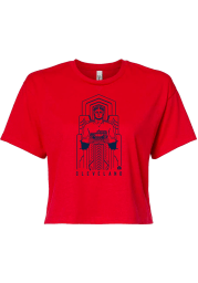 Rally Cleveland Womens Red Guardian Short Sleeve T-Shirt