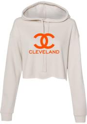 Rally Cleveland Womens Oatmeal CC Wordmark Hooded Sweatshirt