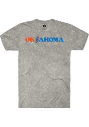 Rally Oklahoma Grey Lightening Bolt Short Sleeve T Shirt