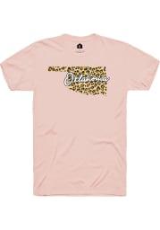 Rally Oklahoma Womens Cheetah State Short Sleeve T-Shirt