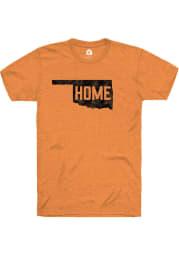 Rally Oklahoma Orange Home State Shape Short Sleeve Fashion T Shirt