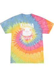 Fiona the Hippo Rainbow Tie-Dye Peaking Out SS Tee